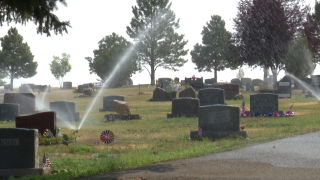 Water is flowing again at Highland Cemetery in Great Falls