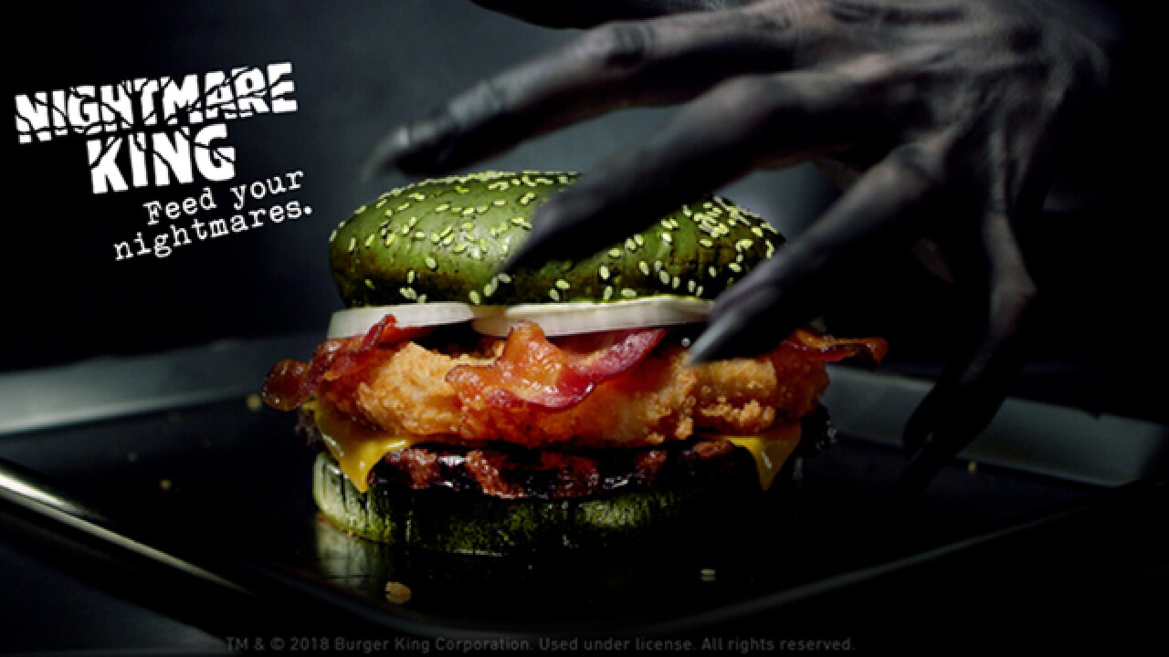 New 'scary' sandwich from Burger King features beef, chicken, bacon and green bun