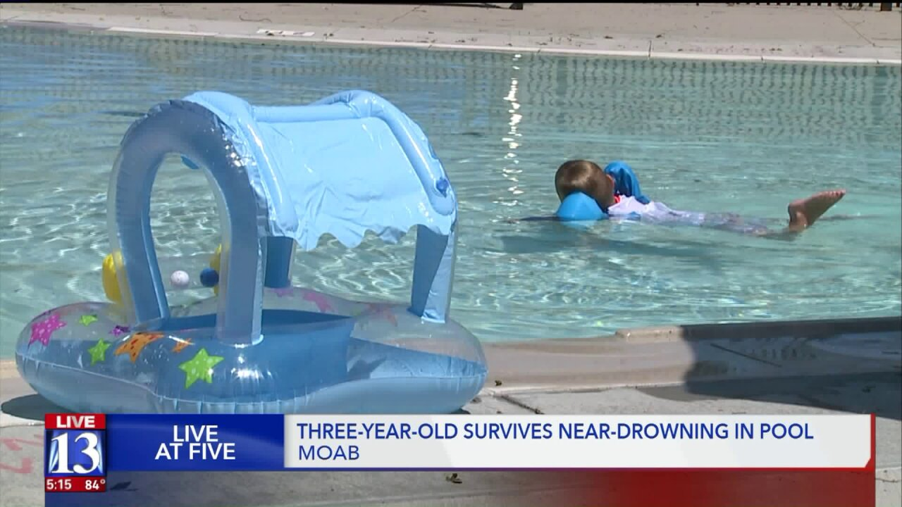 Toddler rescued from near-drowning in Moab