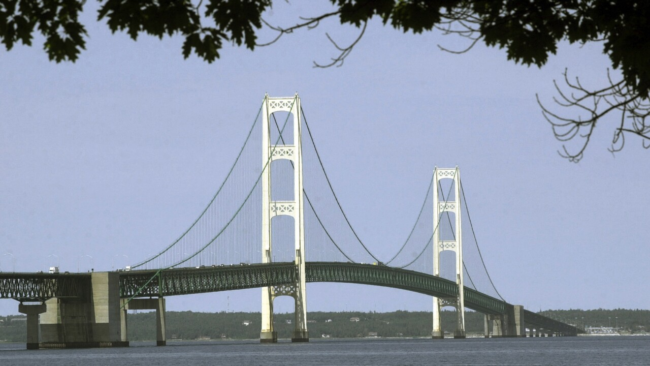 Michigan State Police investigating illegal climbing incident at Mackinac Bridge