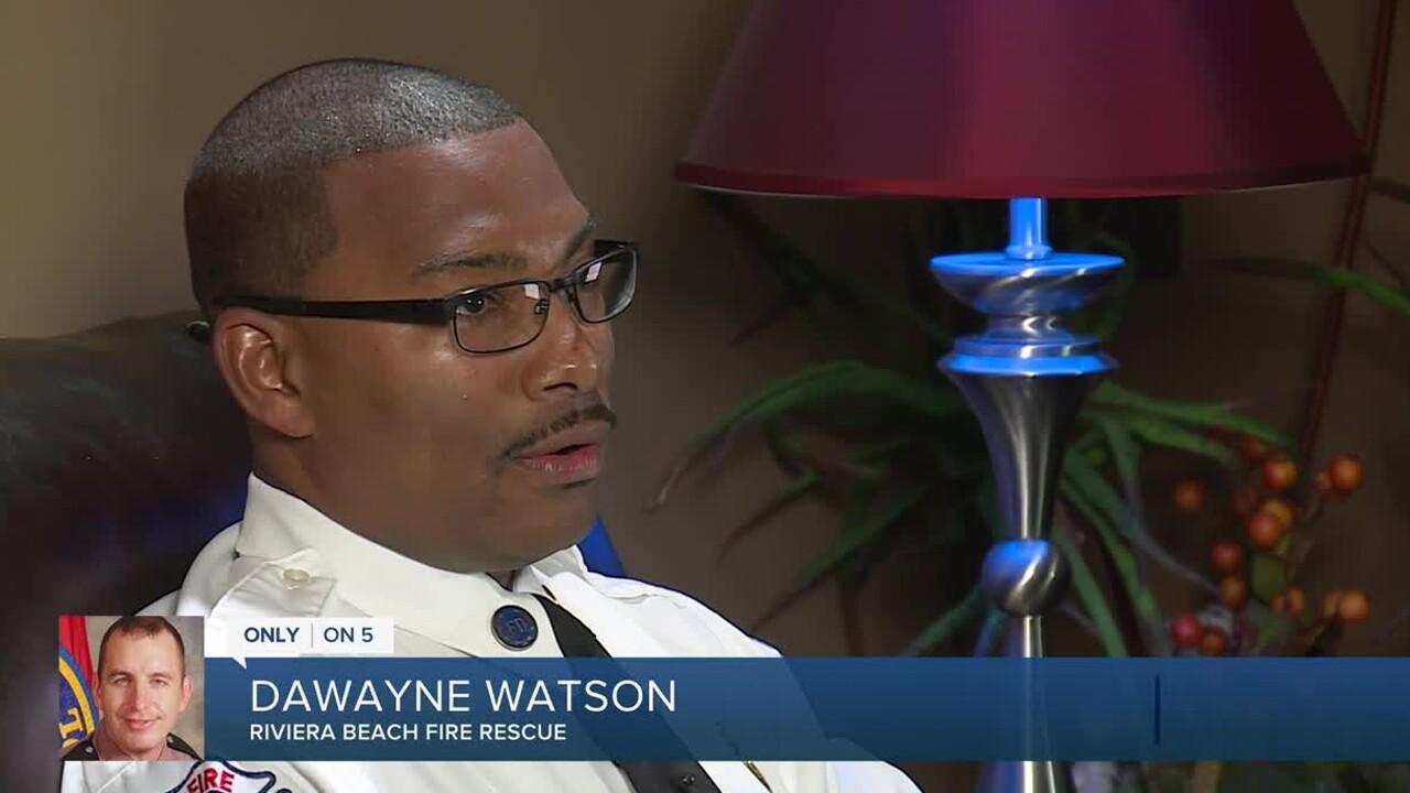 DaWayne Watson, Master Public Information Officer for Riviera Beach Fire Rescue