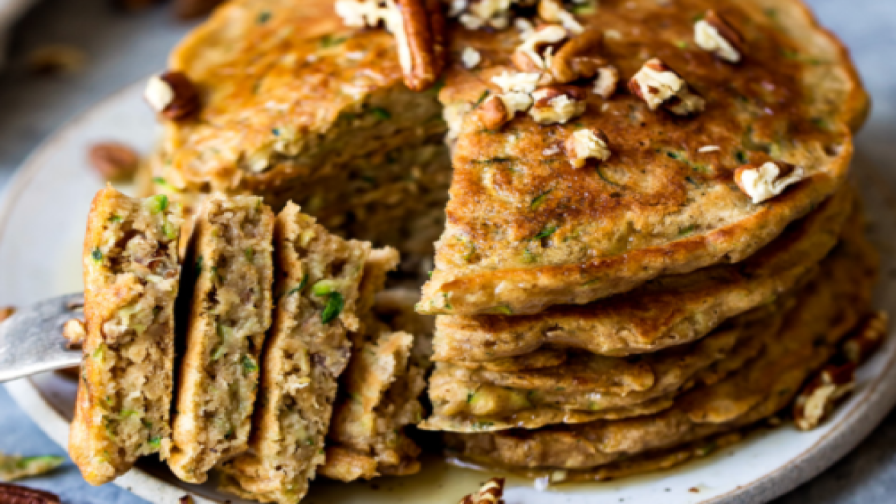 These Fluffy Zucchini Pancakes Taste Just Like A Slice Of Zucchini Bread