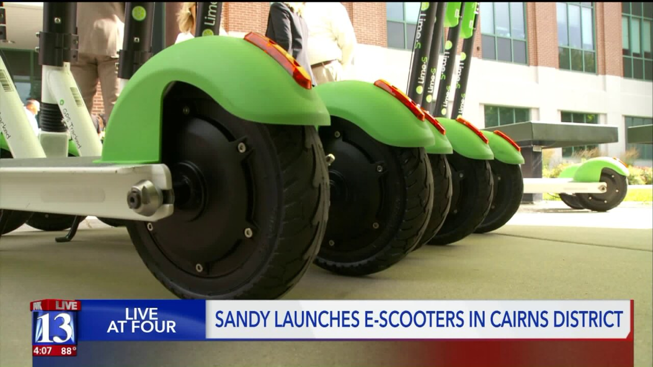 Sandy joins rentable e-scootertrend