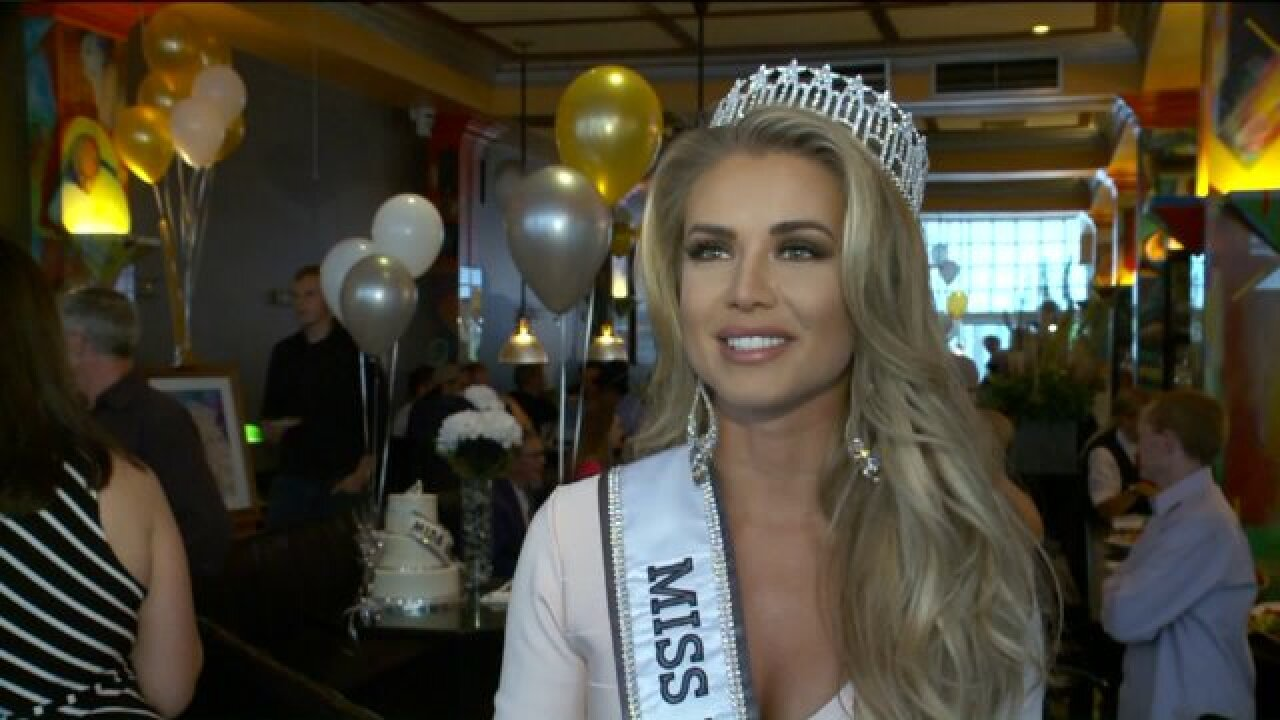 Supporters gather to give Miss Utah USA a royal send-off