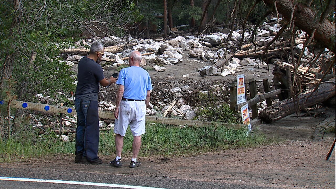 Poudre Canyon residents recall terrifying moments before and during mudslide