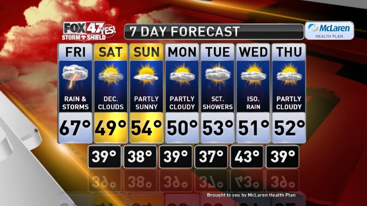 Claire's Forecast 10-11