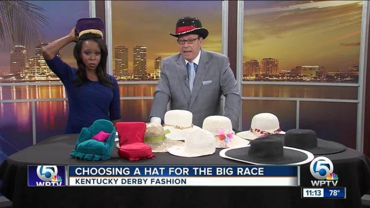 Select a fashionable, fancy hat for the Kentucky Derby