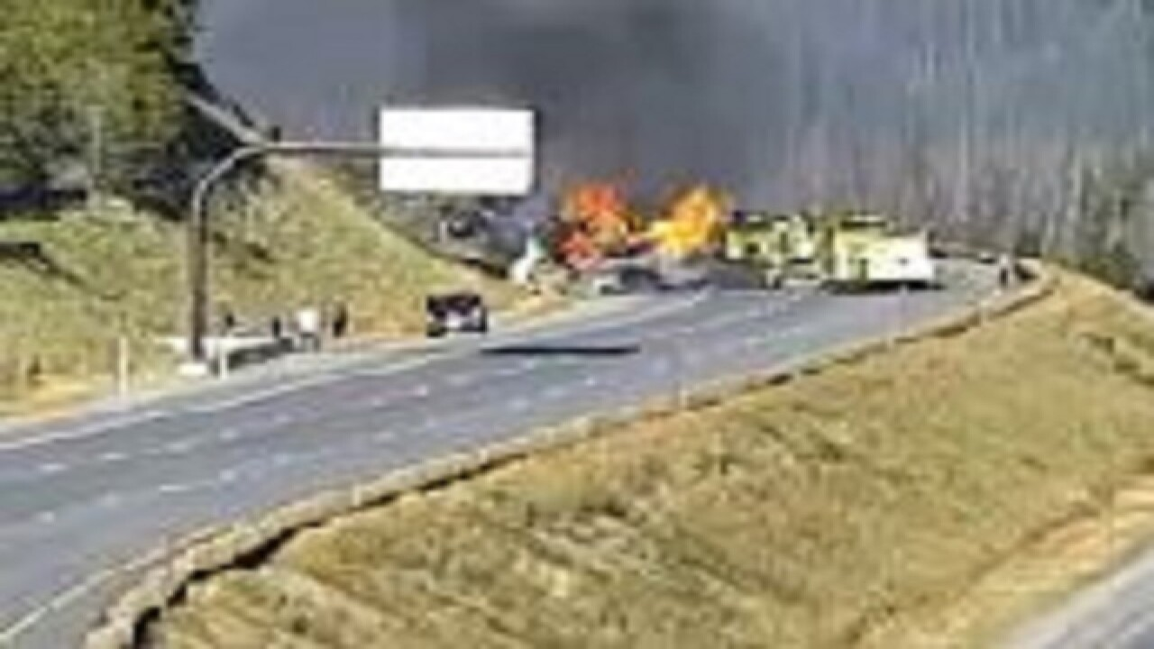 WB I-70 closed due to vehicle fire near Tunnel