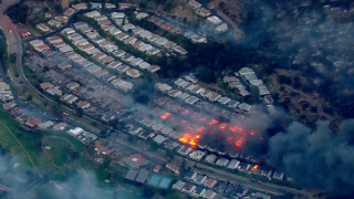 Photos showing before and after Lilac Fire destroyed San Diego neighborhoods