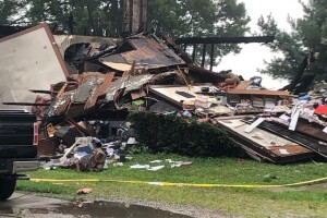 House explosion Wayne County Sterling