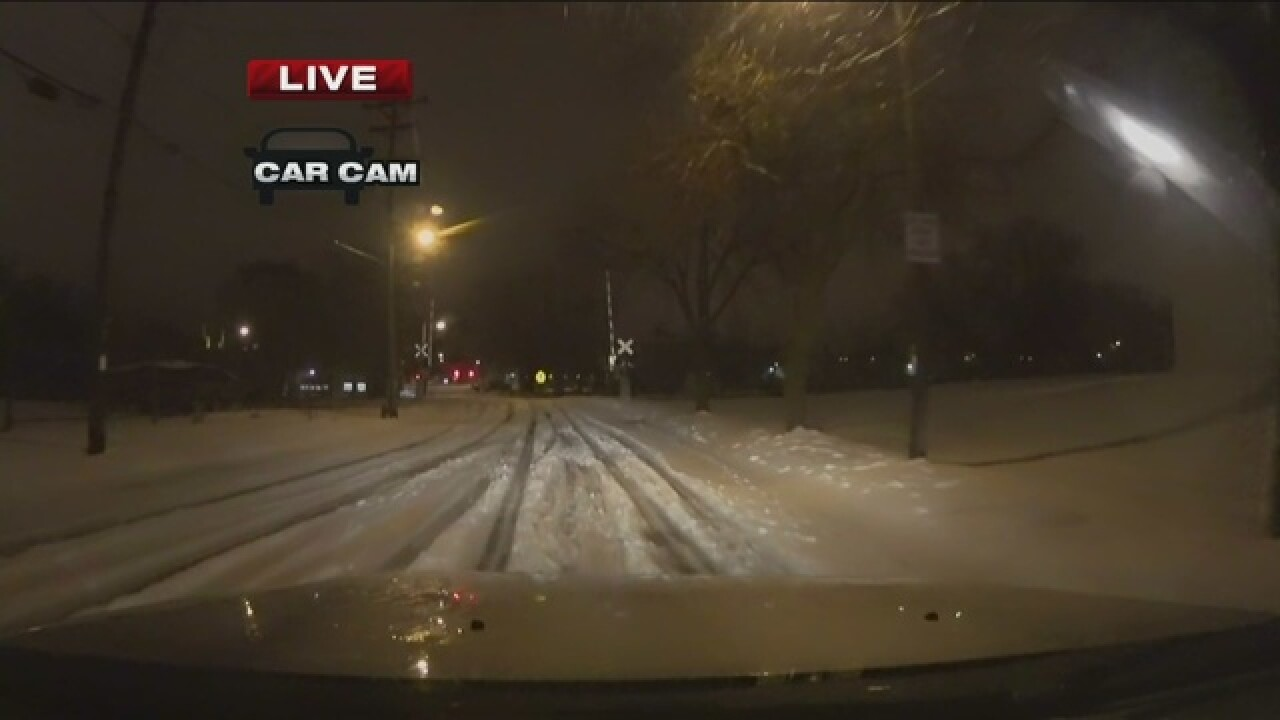 Snow stops, roads still messy