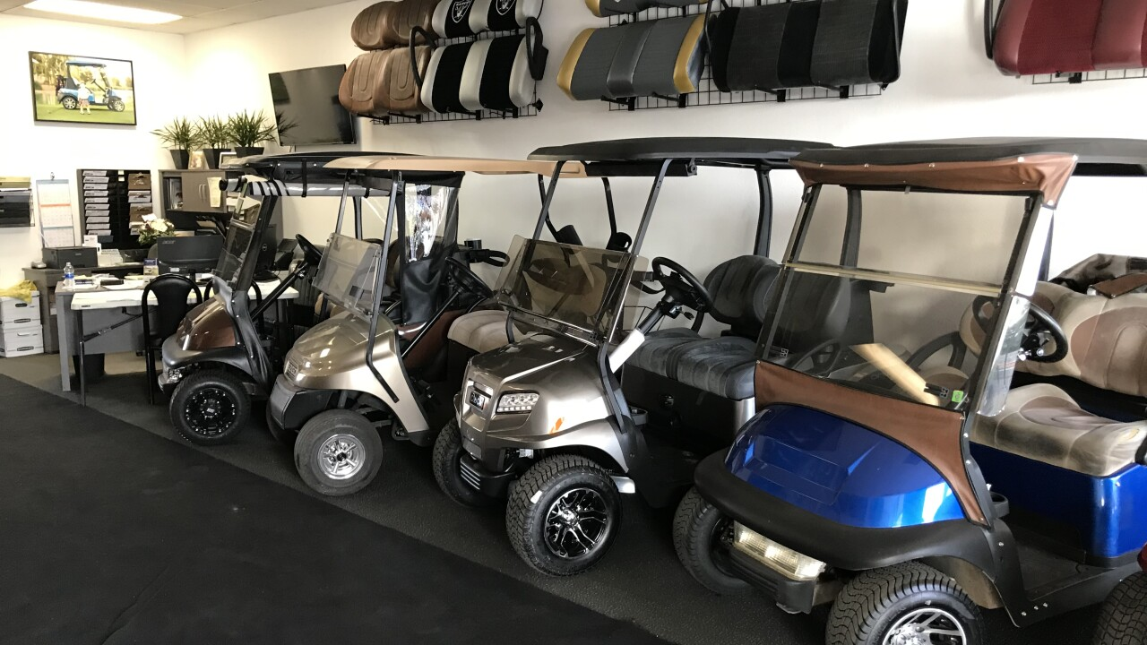 A Sun City Summerlin golf cart store is picking up the pieces after thieves targeted the location and stole a golf cart in the middle of the night