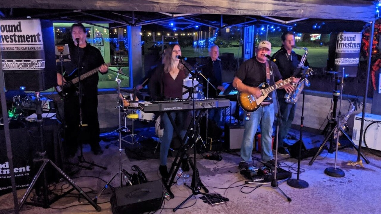 The band Sound Investment provided entertainment for the Fin's Giving Tuesday Fundraiser for 5Cities Homeless