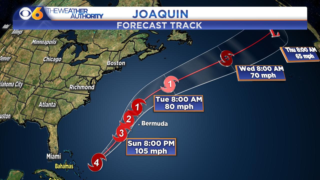 Hurricane Joaquin regains category four strength, moves away fromBahamas
