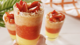 How To Make Layered Pina Coladas