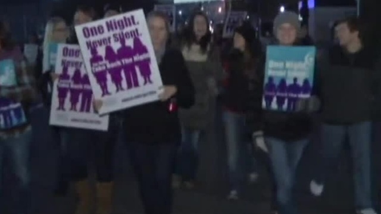 Take Back the Night rally in Green Lake