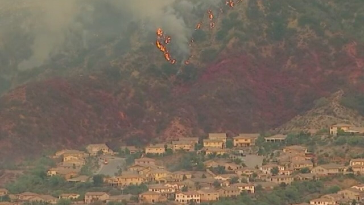 Holy Fire rages into Riverside County