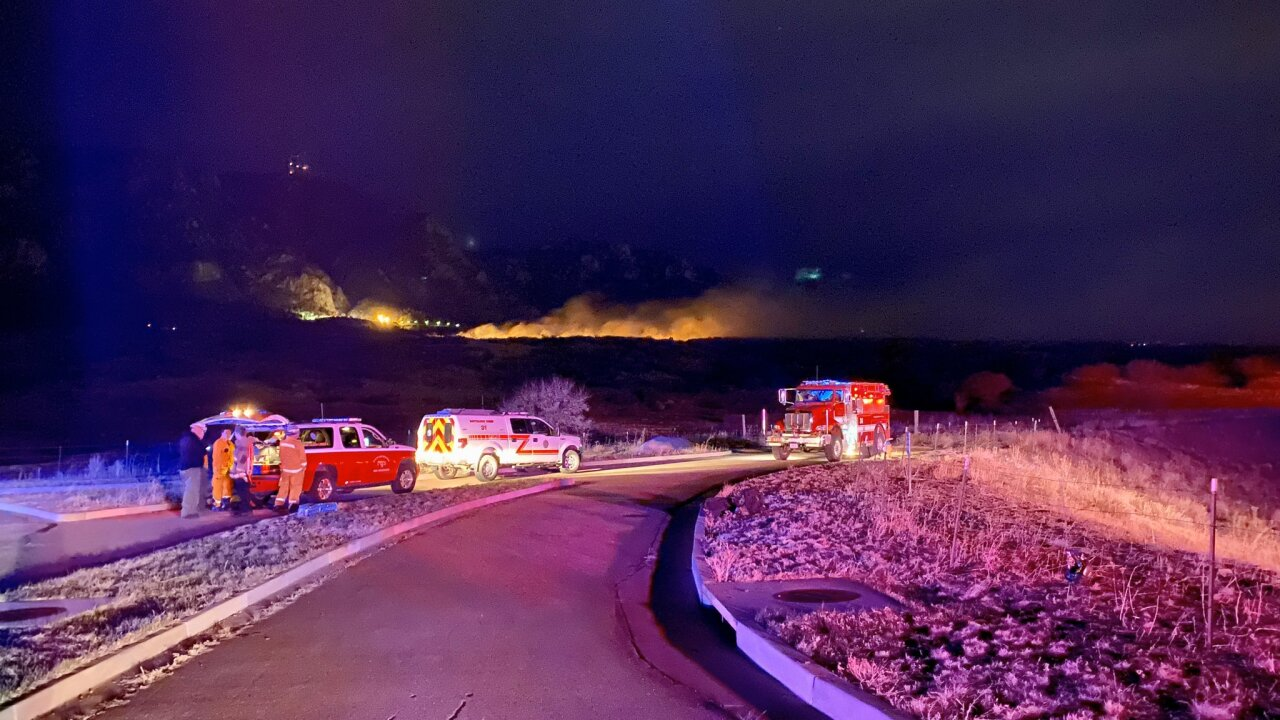 Grass fire near Cheyenne Mountain