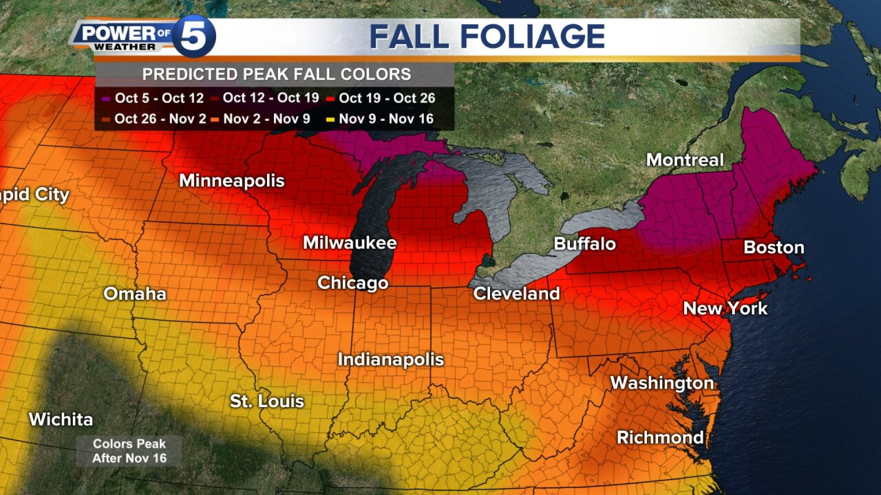 When to expect fall foliage in Northeast Ohio.