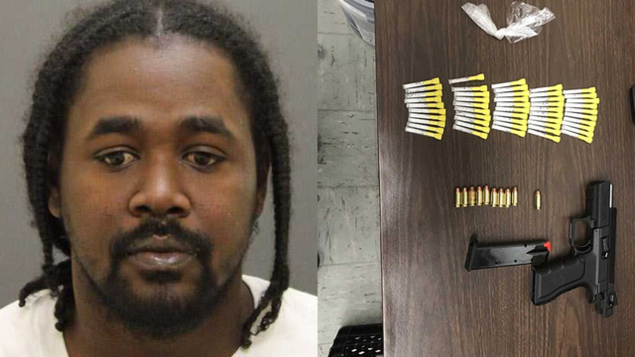 Repeat offender arrested with gun and 'suspected' cocaine