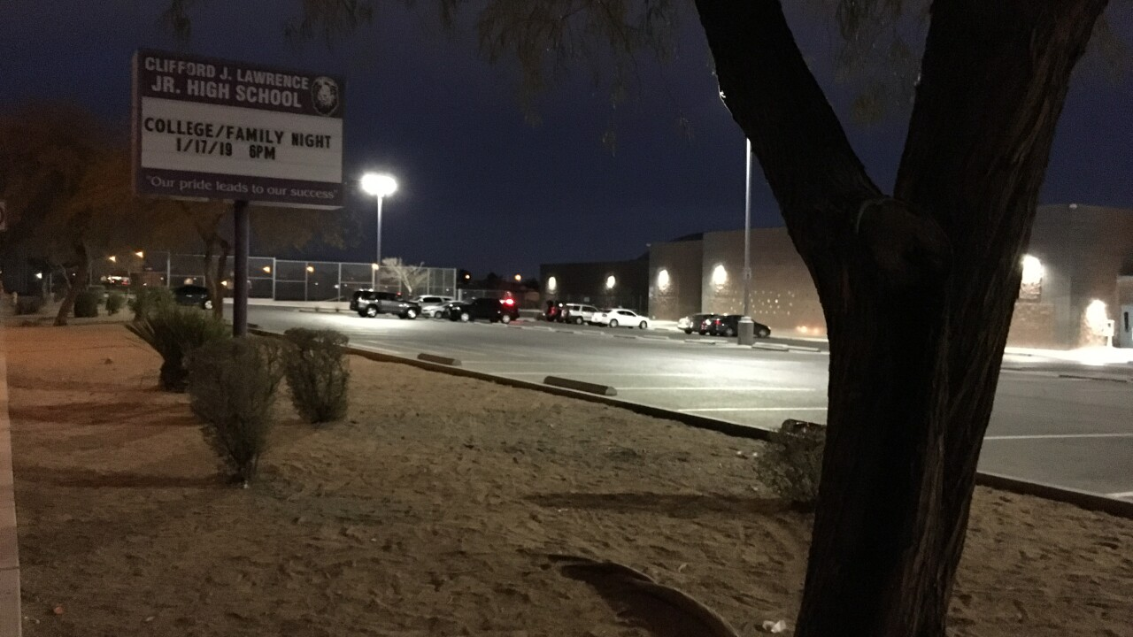 Las Vegas police are searching for a man accused of inappropriately touching a juvenile before school in west Las Vegas.
