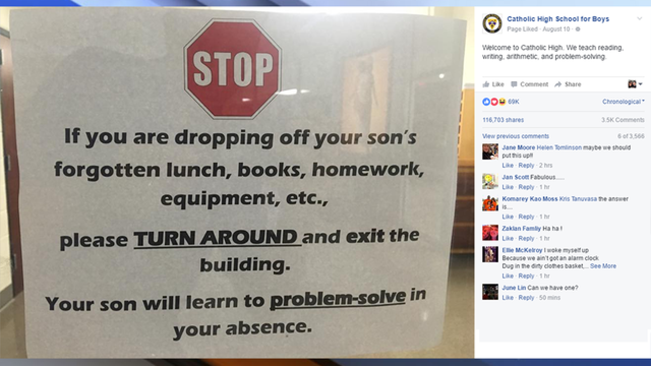 Arkansas school sign goes viral