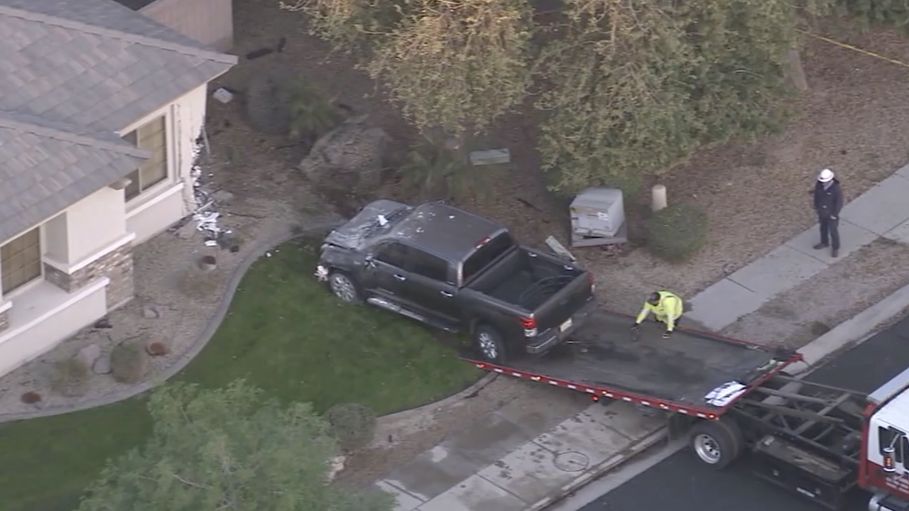 6-year-old child took truck keys, crashed into Glendale home