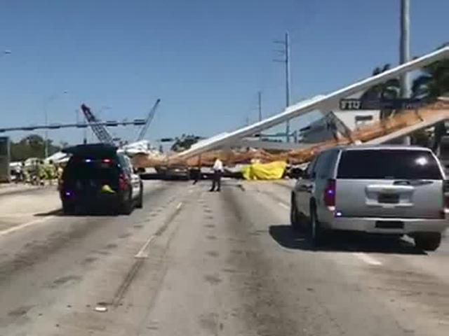 PHOTOS: Bridge collapse near Florida International University crushes cars