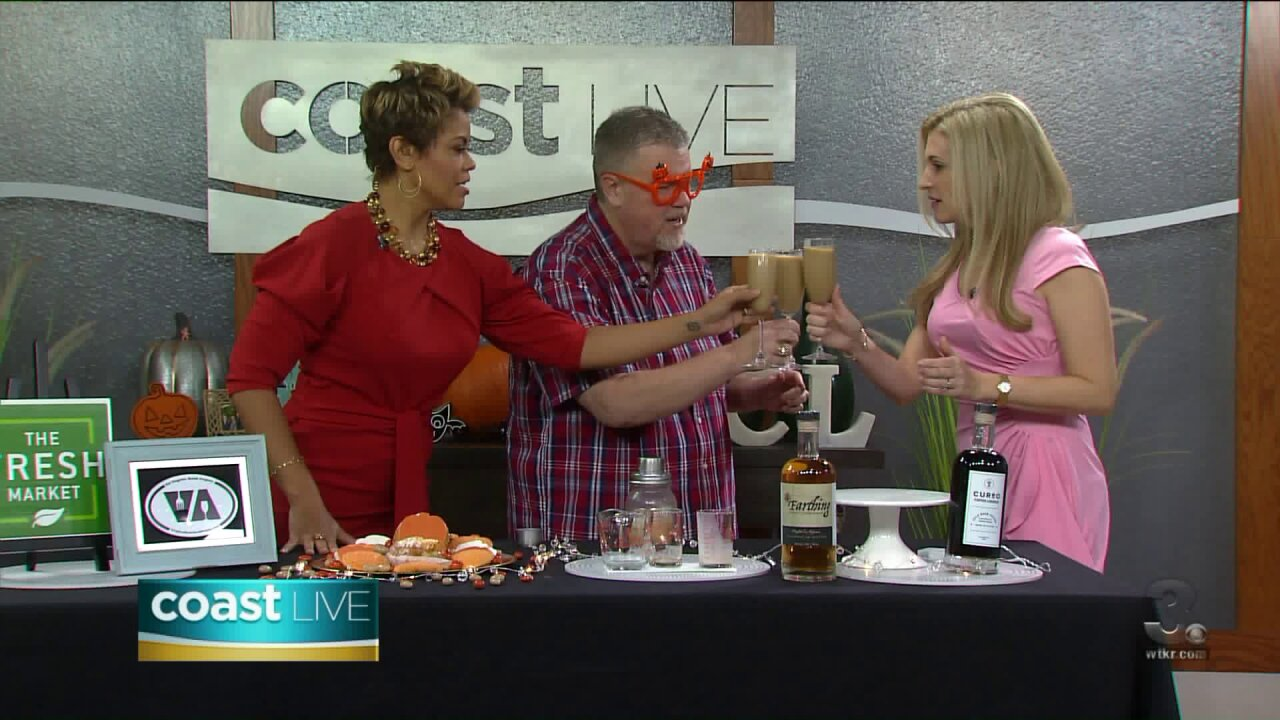 Spicing things up for fall with a Rum-Kim Spice Latte on Coast Live