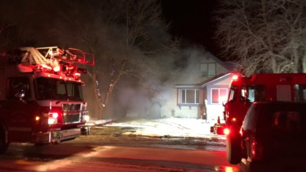 Crews battle two-alarm Kalispell house fire