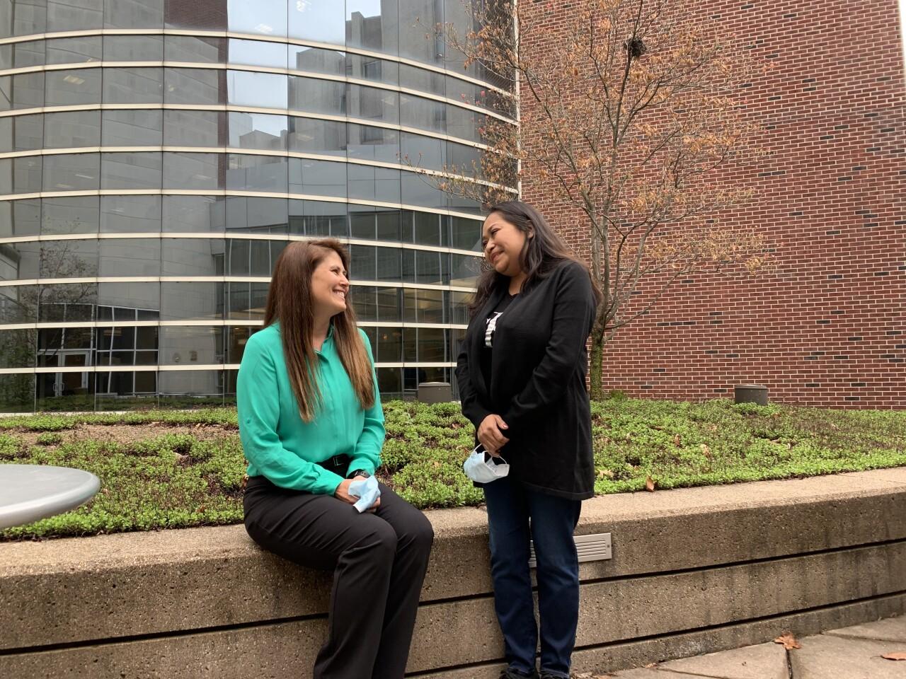 Stephanie Meeting Her Liver Recipient. CREDIT: IU HEALTH