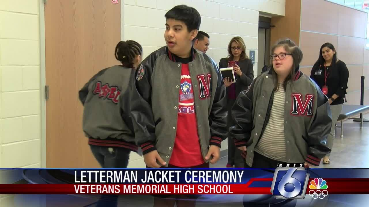Letterman jackets for Special Olympics athletes