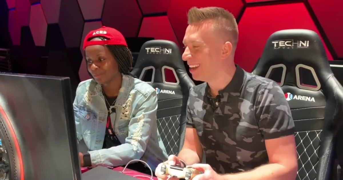 Downtime: Aces' Sugar Rodgers at Esports Arena