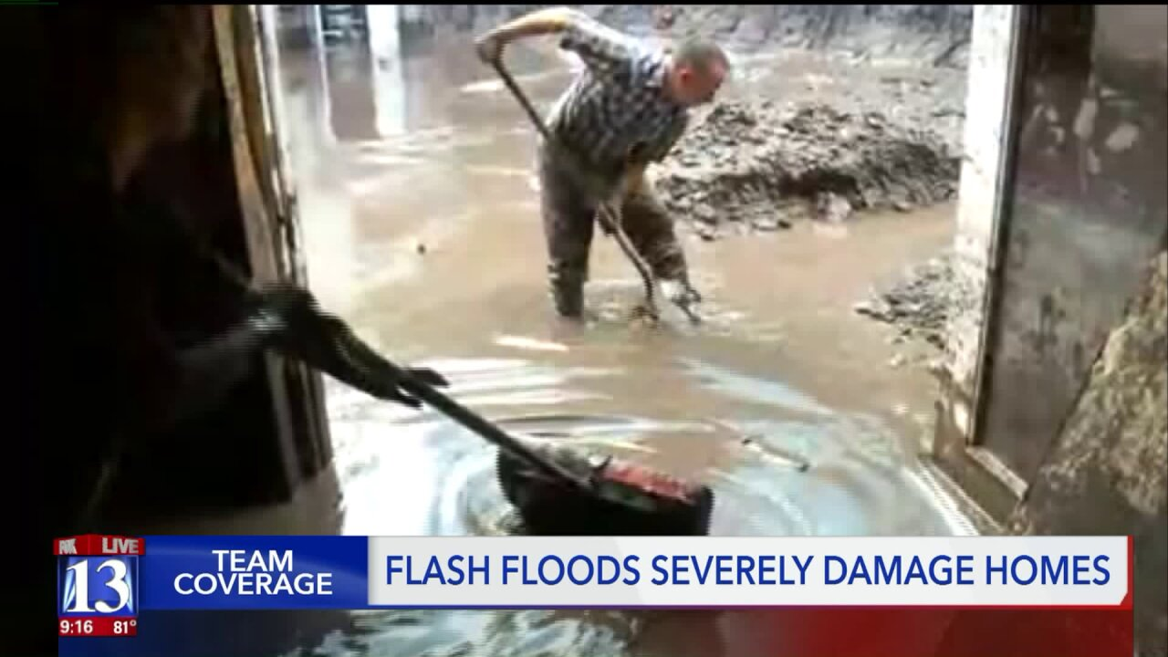 Homeowners cleaning up from flash floods in Utah County
