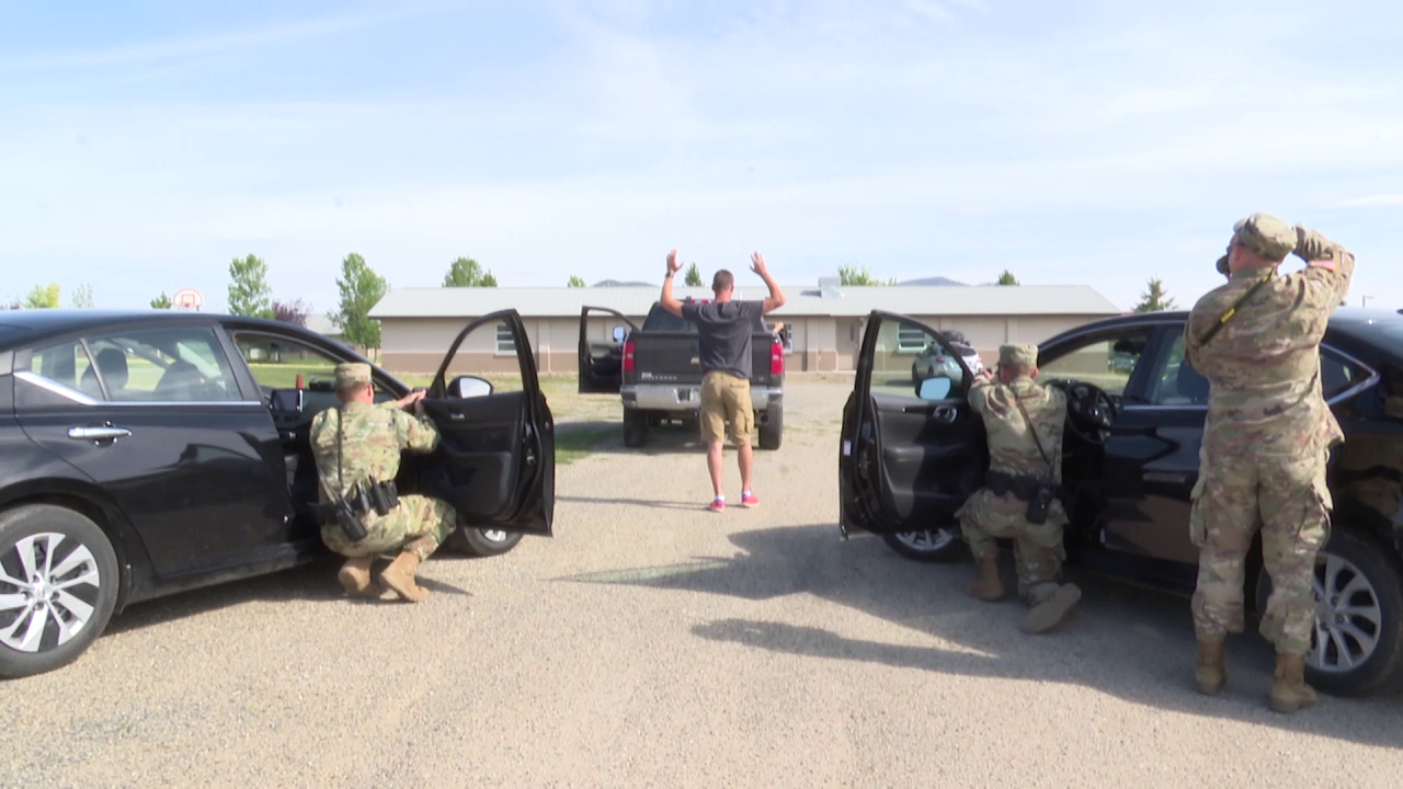 Military police trained near Helena this week
