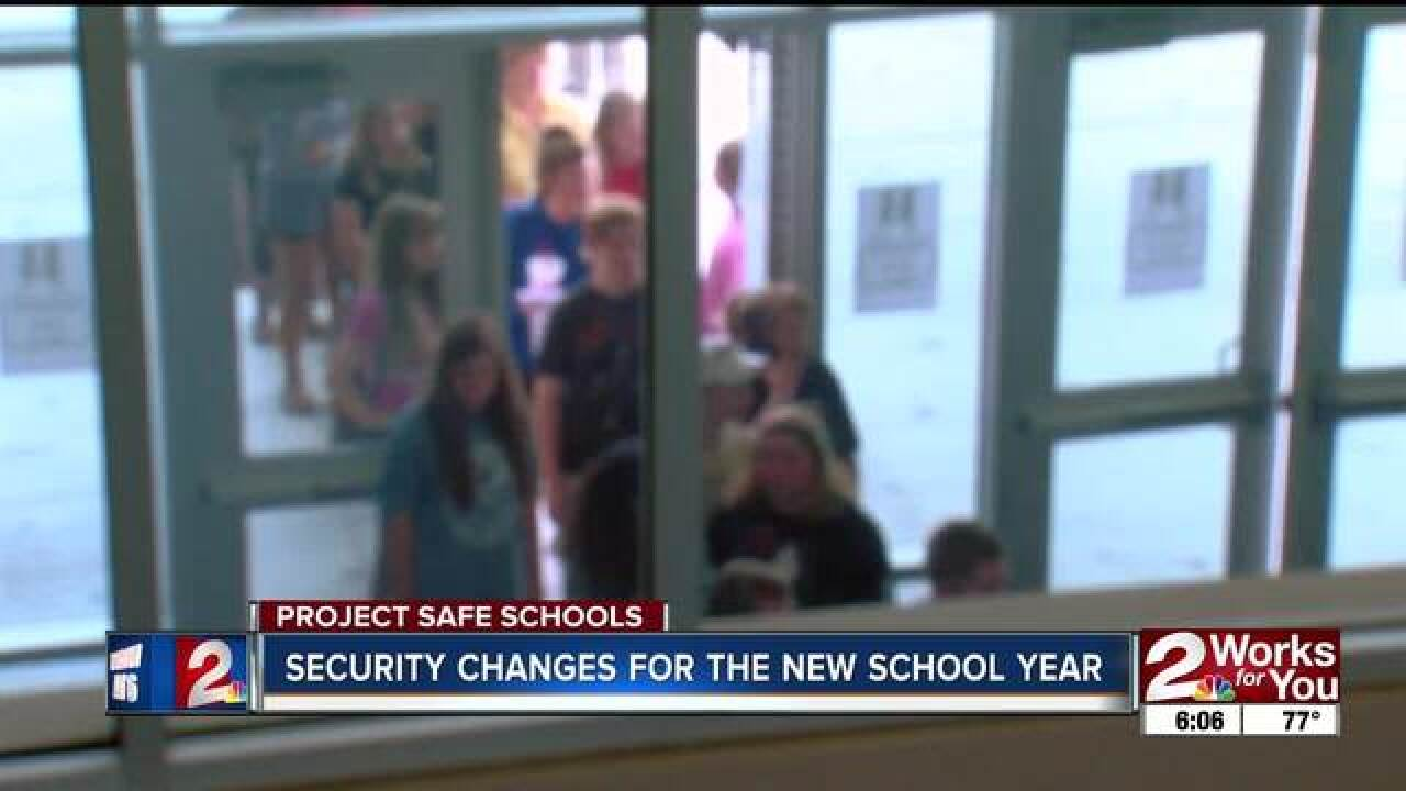 We looked at some of the school districts' changes for back-to-school security