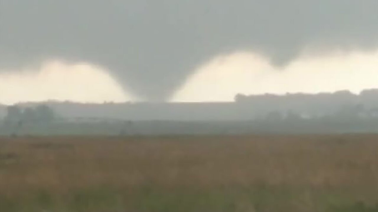 An extremely rare clockwise-spinning tornado touched down in South Dakota last week