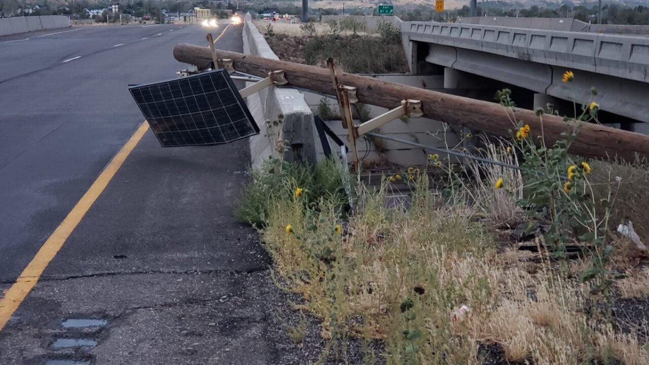 I-84 in Weber Co. Wind Damage