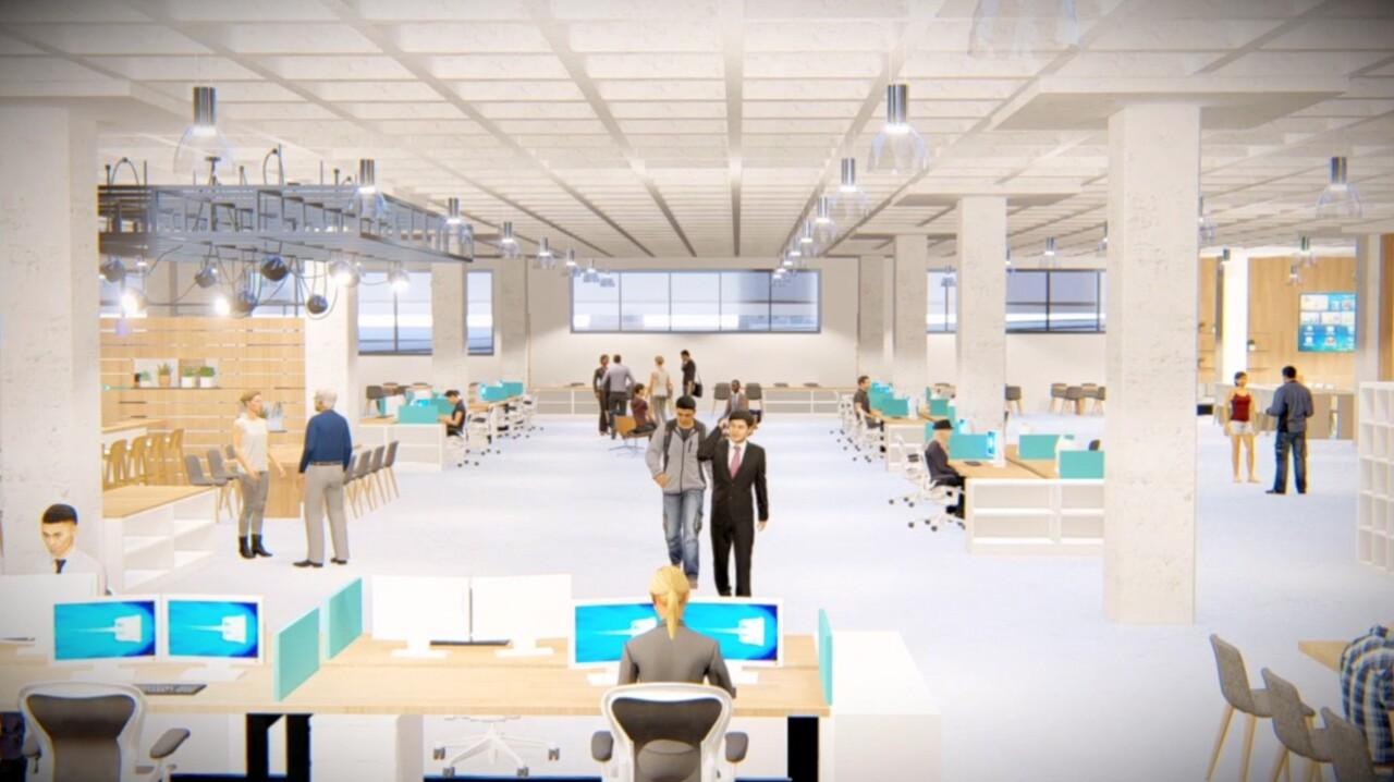 Rendering of M&T Bank Technology hub at Seneca One