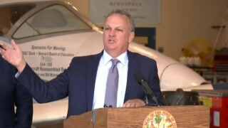 Florida Education Commissioner Richard Corcoran speaks at a news conference in Melbourne on March 22, 2021.jpg