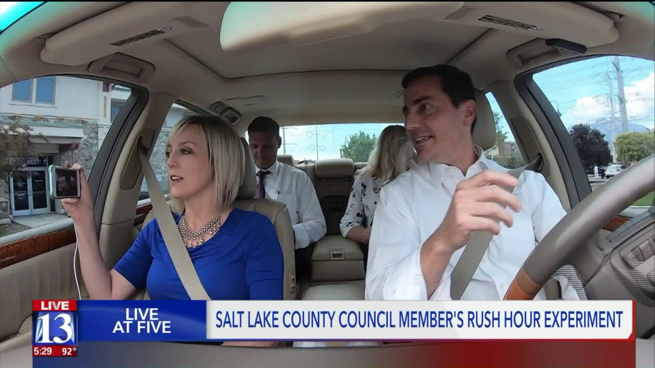 County councilwoman, mayors do a 'drive along' to see traffic issues firsthand inHerriman
