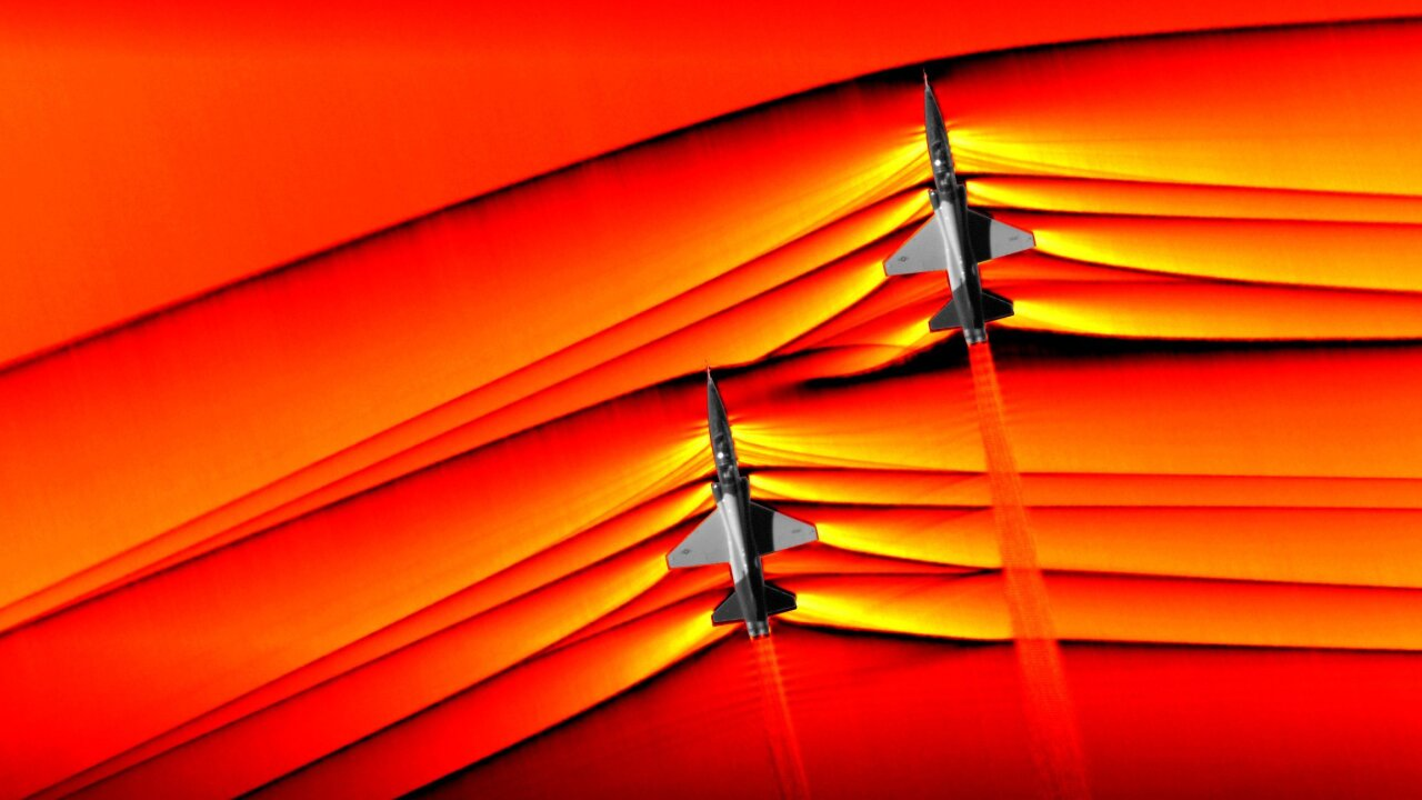 NASA captures 'first' images of supersonic shockwaves colliding in flight