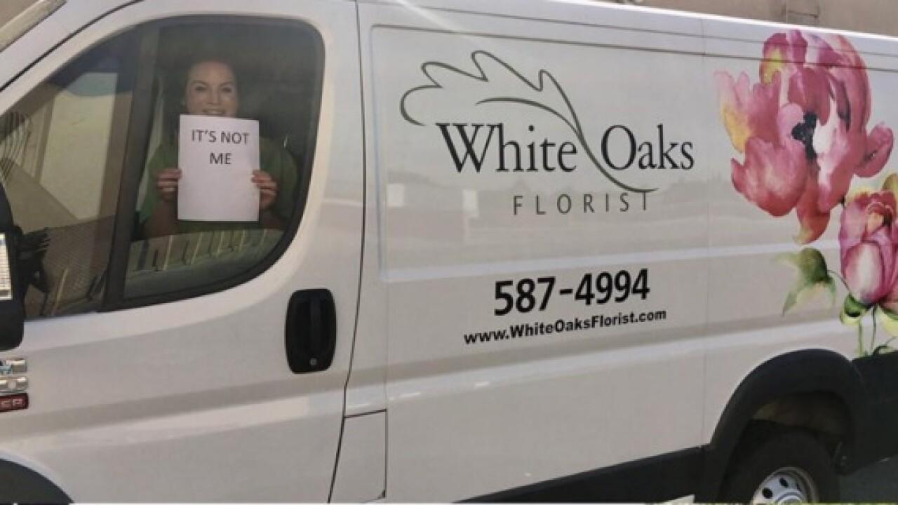 White Oaks Florist van reported stolen