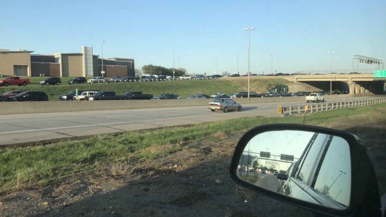 Massive traffic backups in West Omaha Friday