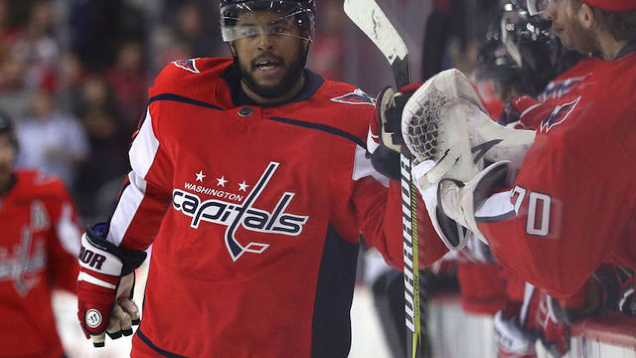 Hockey commissioner: Racial taunts at Capitals forward 'unacceptable and reprehensible'