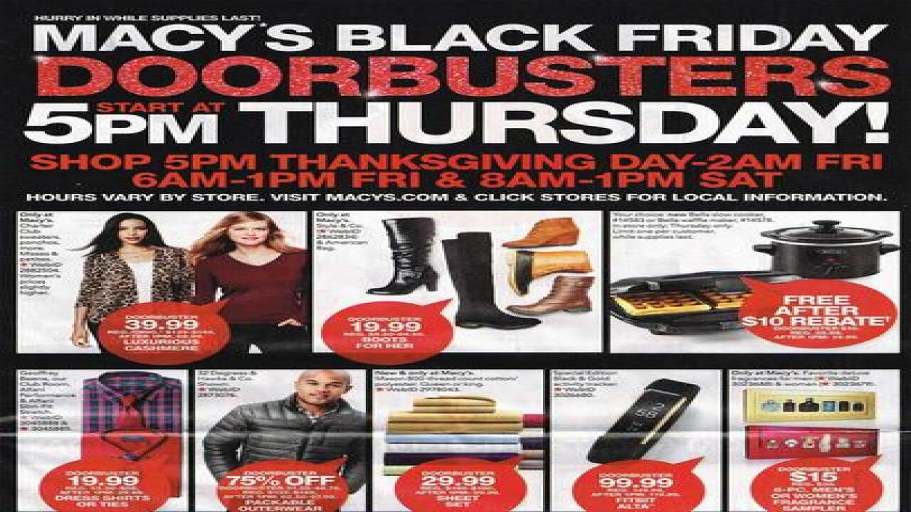 Macy's 2016 Black Friday ad released