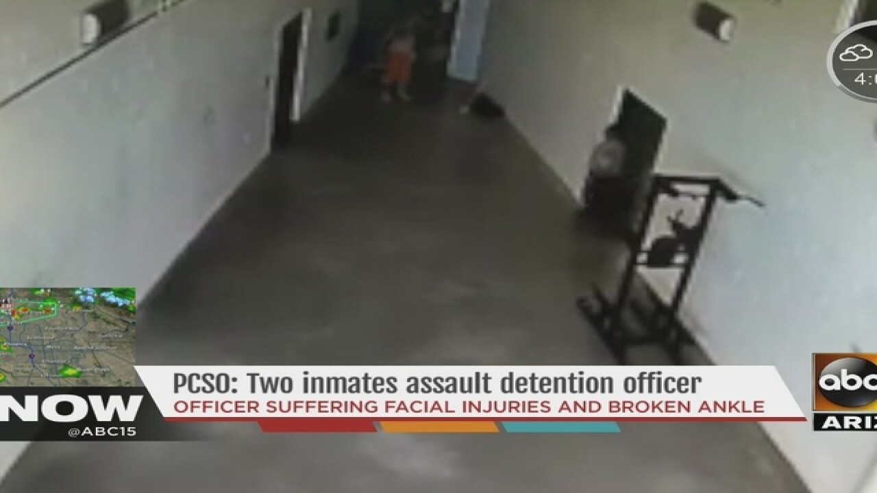 PCSO: Two inmates assault detention officer