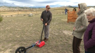Preservation advocates demonstrate high-tech tools at historic cemetery north of Helena