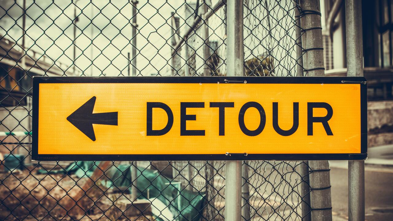 detour, construction