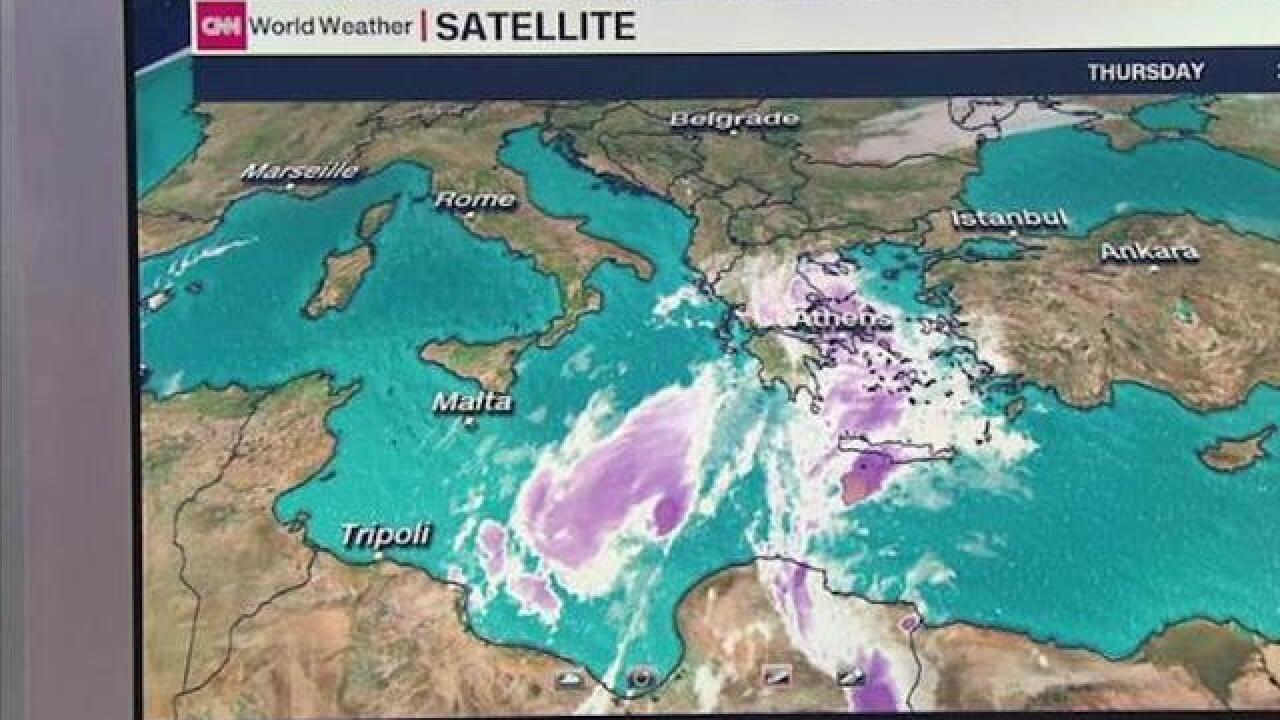 Hurricane-like Zorba lashes Greece as it barrels toward Turkey
